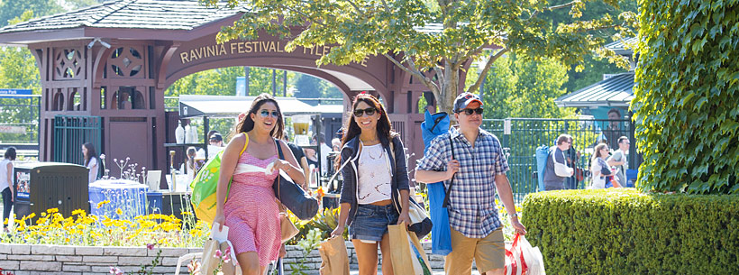 Image of Music Fans Entering Ravinia Festival Grounds