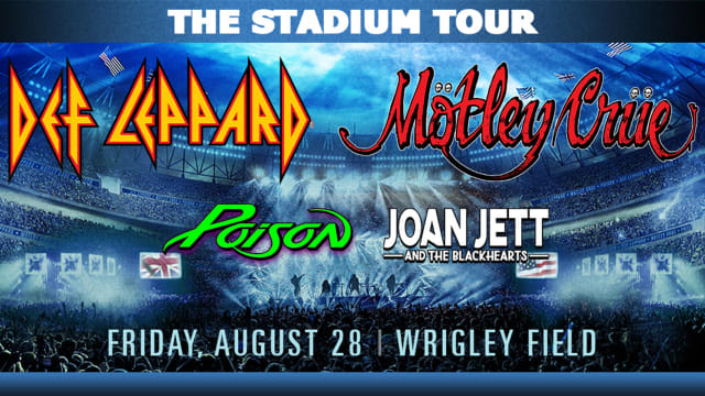 Photo Promoting Def Leppard & Motley Crue Concert at Wrigley Field