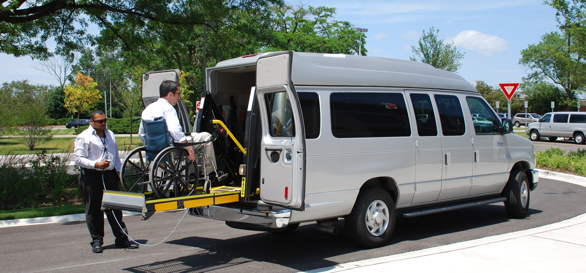 Image of an accessible van