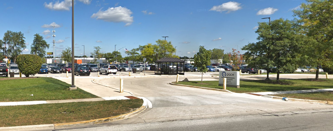 Image of the entrance to Old Chicago Park-n-Ride