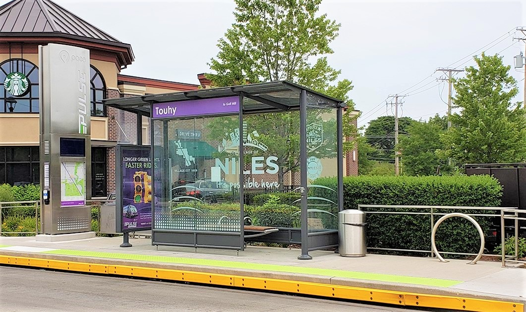 Image of Pulse Bus Station near Touhy Ave.
