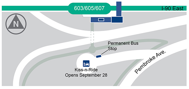 Hoffman Estates Kiss-n-Ride Map