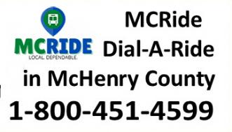 Image of McRide Phone Number Sign (800 451 4599)
